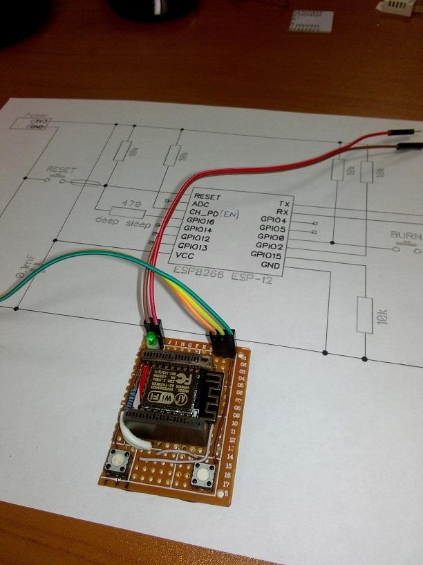 Панелька для ESP8266 ESP-12 - 12