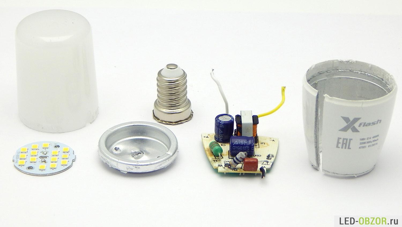 Сверхъяркие светодиодные диммируемые «пальчики» X-Flash TC - 4