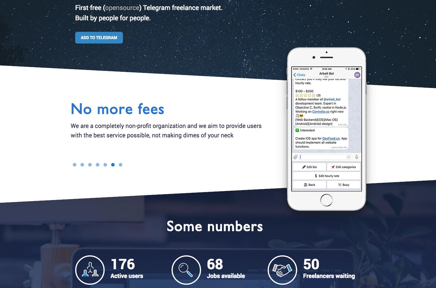 Как мы написали фриланс-биржу для Telegram - 3