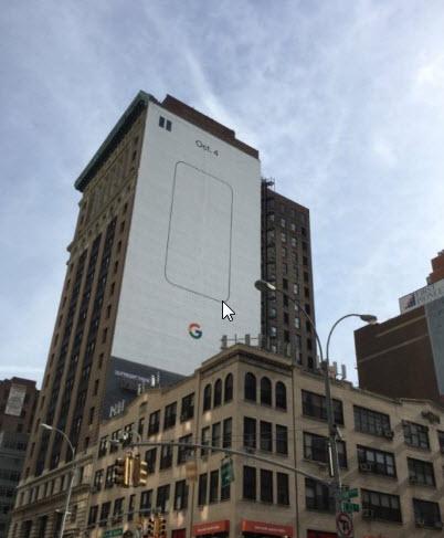 На улицах Нью-Йорка появилась реклама смартфонов Google Pixel, которые должны иметь степень защиты IP53