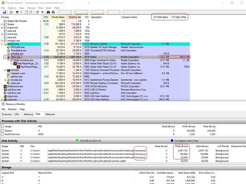 Firefox пишет много данных на SSD. Как это исправить? - 2