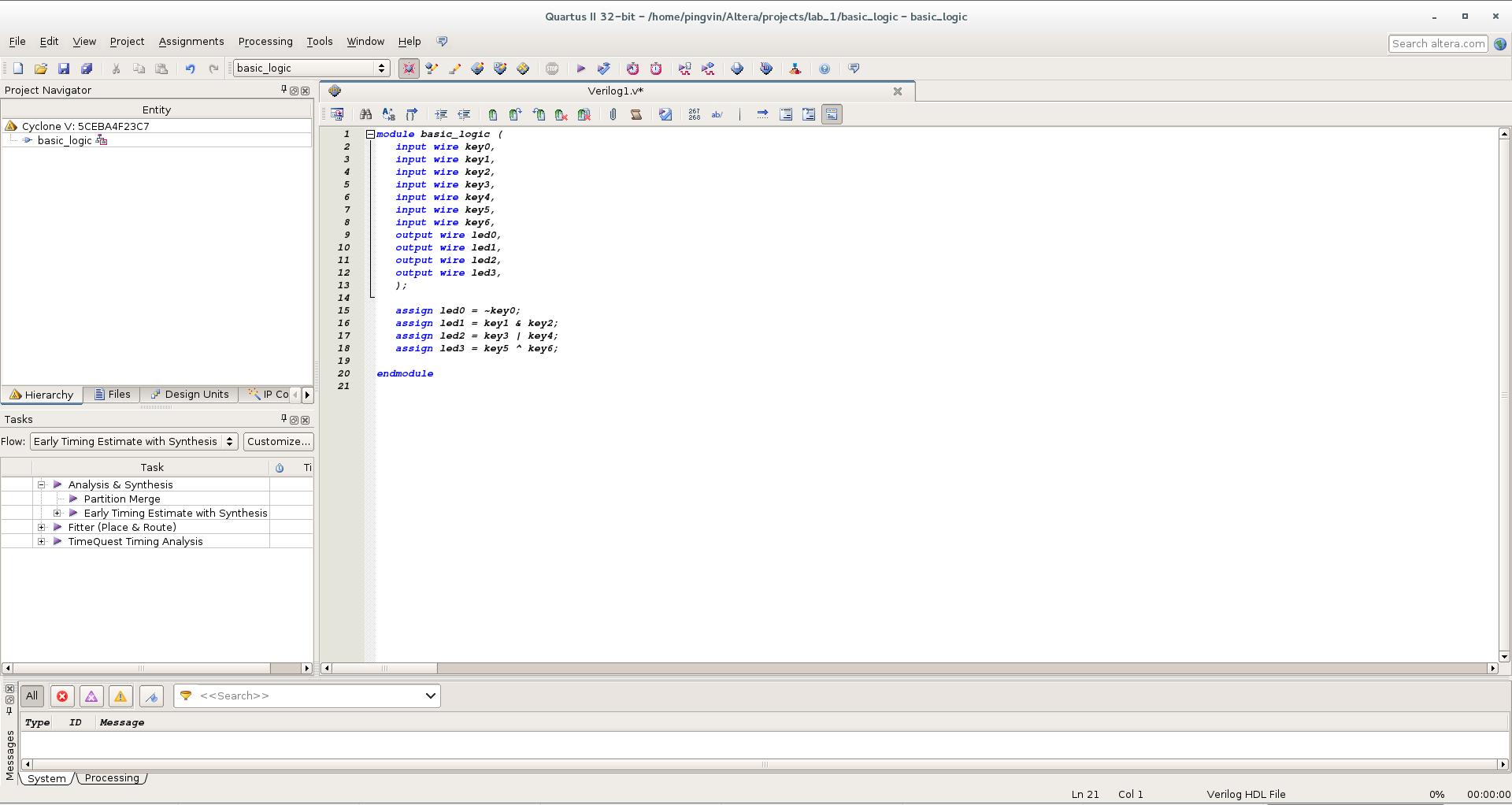 Первый проект на FPGA Altera и подключение USB-Blaster в Linux - 10