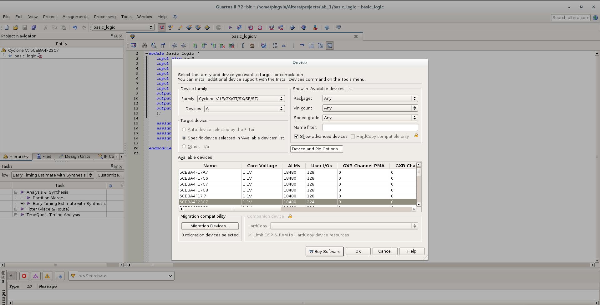 Первый проект на FPGA Altera и подключение USB-Blaster в Linux - 12