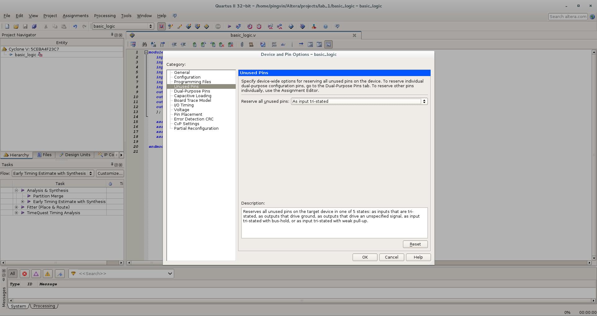 Первый проект на FPGA Altera и подключение USB-Blaster в Linux - 13