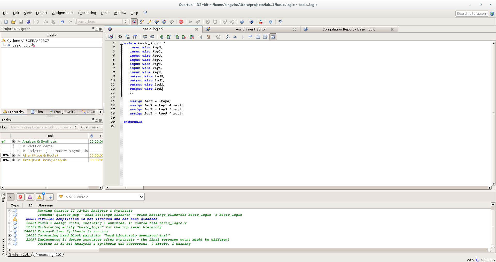 Первый проект на FPGA Altera и подключение USB-Blaster в Linux - 17