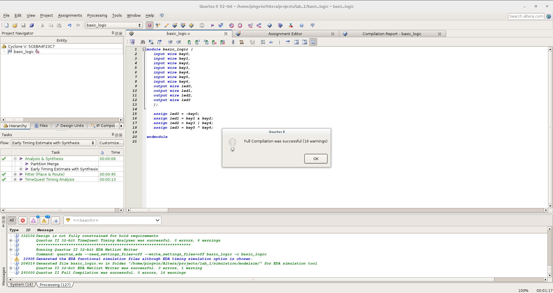 Первый проект на FPGA Altera и подключение USB-Blaster в Linux - 18