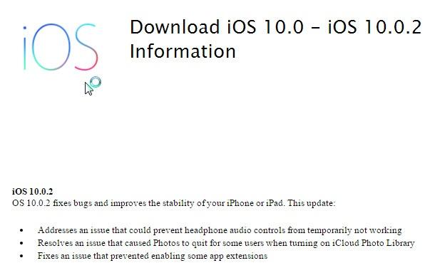 Обновление iOS 10.0.2 исправляет ошибку в работе проводной гарнитуры EarPod с разъемом Lightning