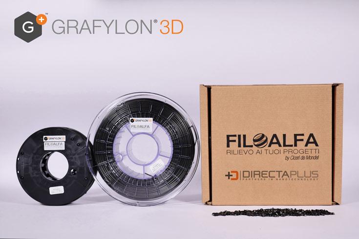 Бобина нити Grafylon 3D диаметром 1,75 мм массой 700 г стоит 39 евро