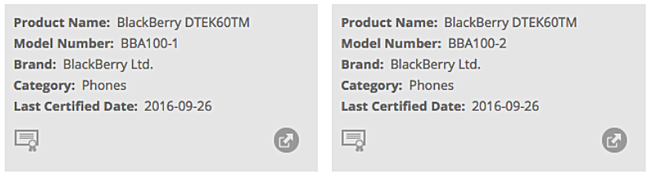 О дате анонса и цене BlackBerry DTEK60 пока данных нет