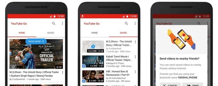 Сервис YouTube Go разрабатывался специально для Индии