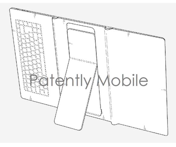 Samsung запатентовала складывающийся планшет со встроенной клавиатурой и подставкой