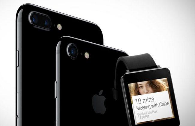 Многие умные часы с Android Wear не работают с iPhone 7