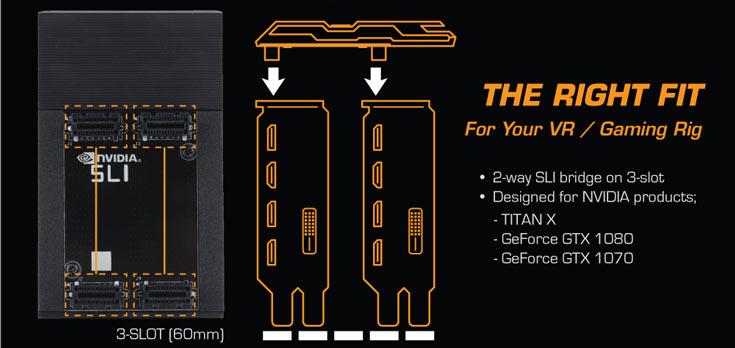 Мостик Inno3D iChill SLI HB Bridge позволяет связать две 3D-карты Nvidia GeForce GTX 1070, 1080 или Titan X