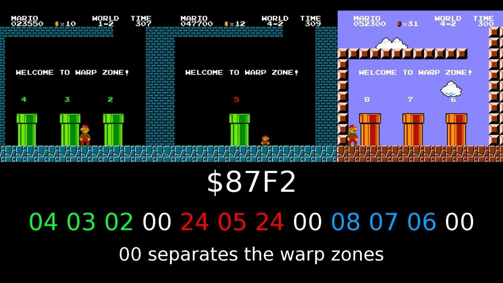 Как работает баг с миром −1 в Super Mario Bros - 3