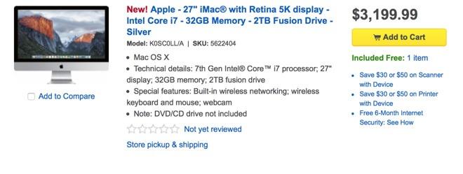 Новый ПК Apple iMac Retina 5K обновится несущественно
