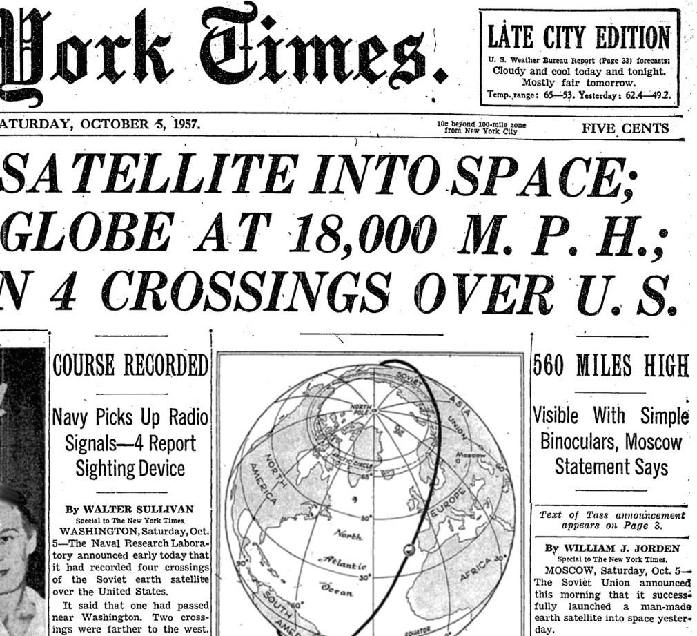 4 октября 1957 года — первый искусственный радиосигнал из космоса - 1