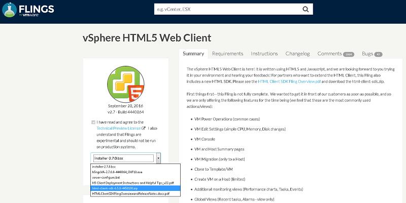 Создание плагинов для vSphere с помощью HTML Client SDK Fling - 1