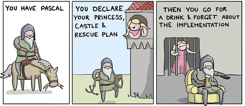 Как спасти принцессу, используя 8(+40) языков программирования, в пятницу - 7