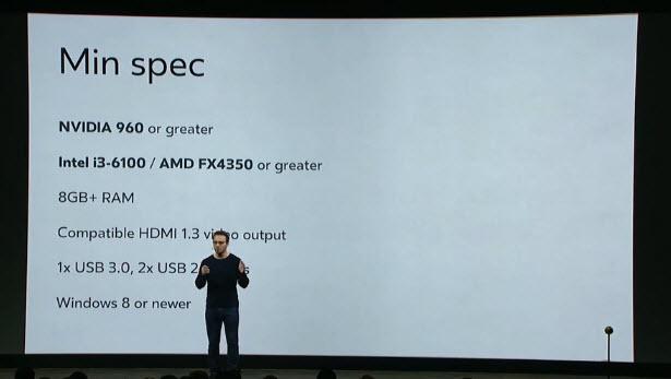 Шлем виртуальной реальности Oculus Rift скоро сможет работать даже с ноутбуками стоимостью $500