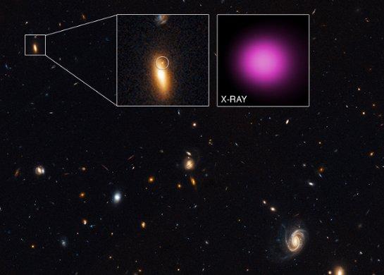 Ученые обнаружили черную дыру, блуждающую по космосу
