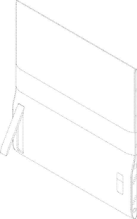 Конструкция планшета включает две секции связанные гибким соединением