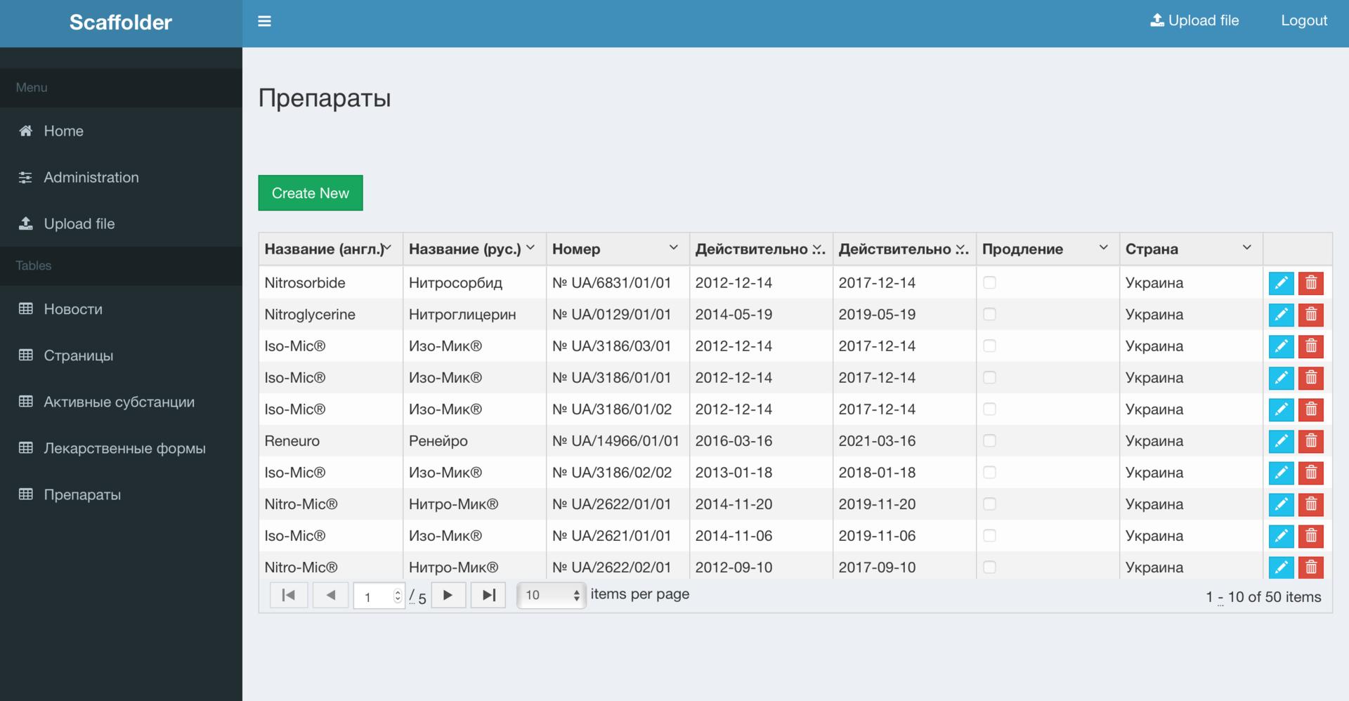Универсальная система управления данными на базе технологий скаффолдинга и платформы .NET Core - 2