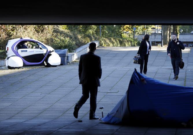 В Великобритании провели тест беспилотной машины