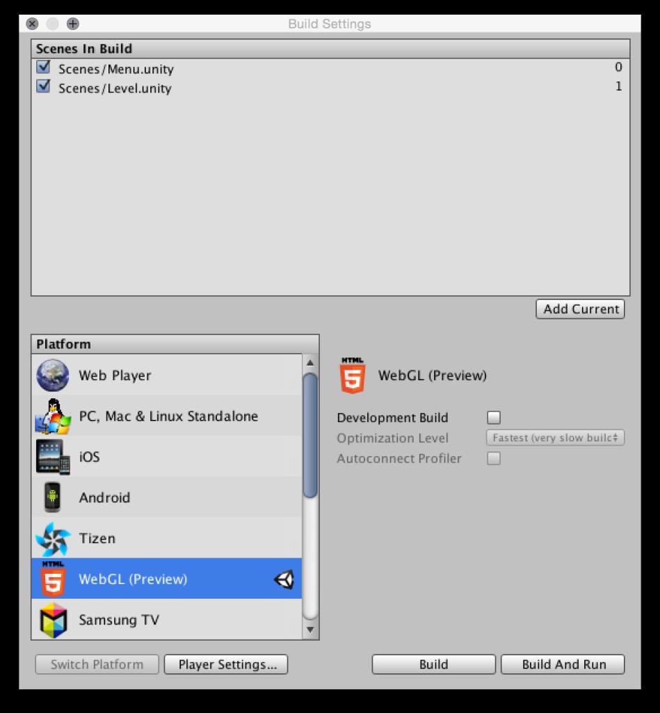 Создаем игру для WebGL с помощью Unity 5 и JavaScript - 8