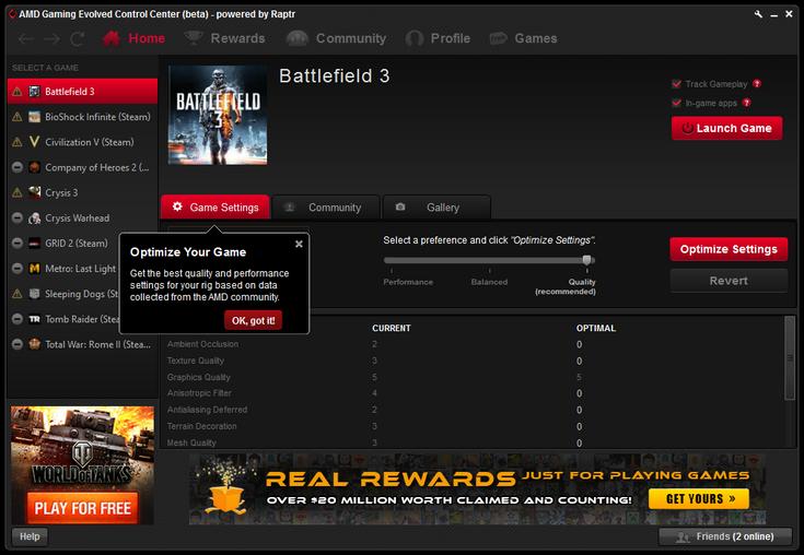 Приложение Gaming Evolved больше не будет частью драйверов AMD