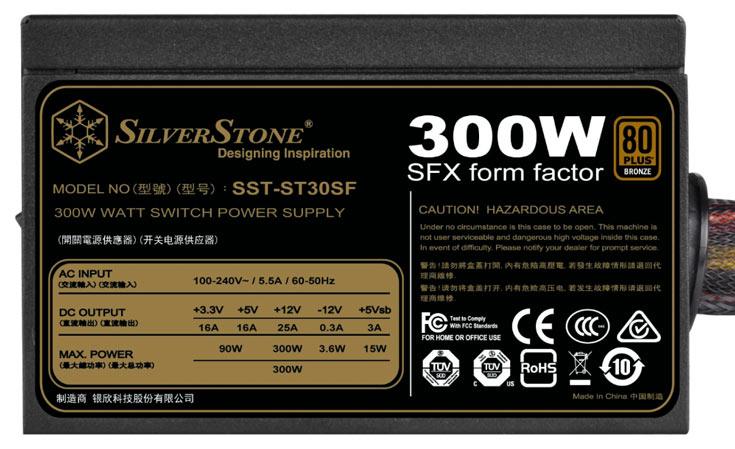 Рекомендованная производителем розничная цена блока питания SilverStone ST30SF v2.0 равна 47,20 евро