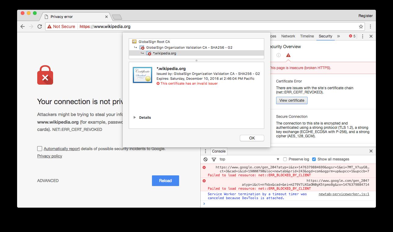 Из-за проблем у GlobalSign ряд HTTPS-сайтов будет частично недоступен следующие 4 дня - 2