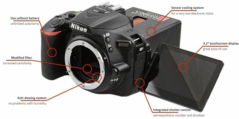 Охлаждённая Nikon D5500a делает потрясающие фотографии космоса - 3