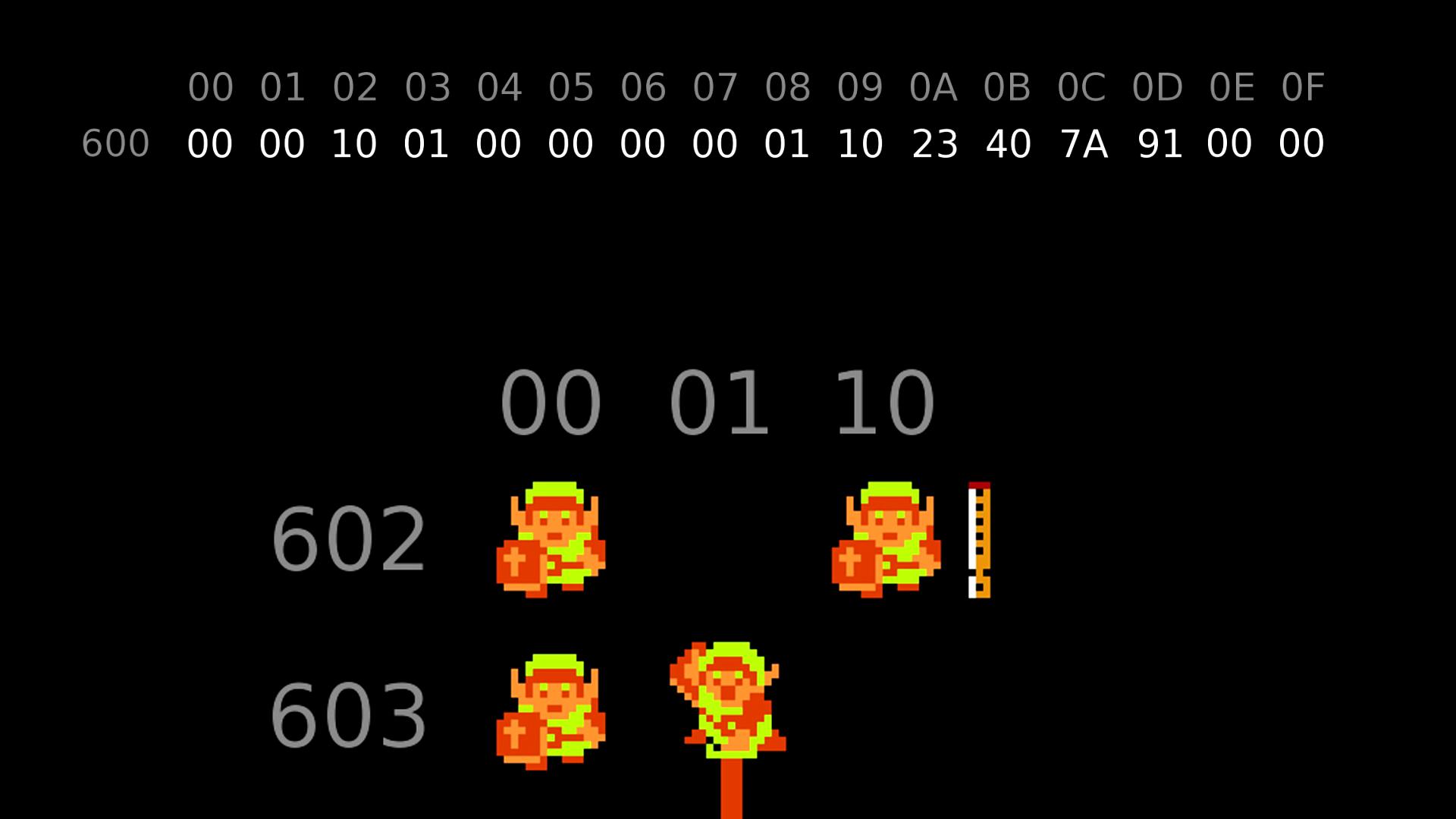 Спидран Legend of Zelda путём манипуляций памятью игры - 8