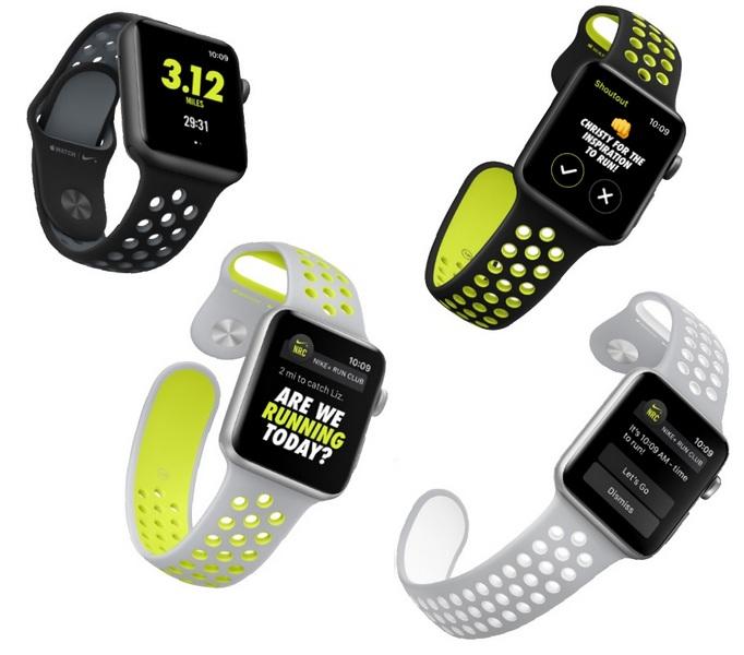 Умные часы Apple Watch Nike+ будут доступны в четырёх цветовых вариантах