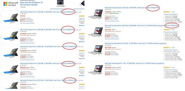 Мобильные ПК Surface Pro 4 и Surface Book  перейдут на использование процессоров Intel седьмого поколения