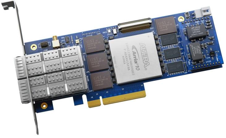 Производитель отмечает новую низкопрофильную карту на базе FPGA Arria10 GX