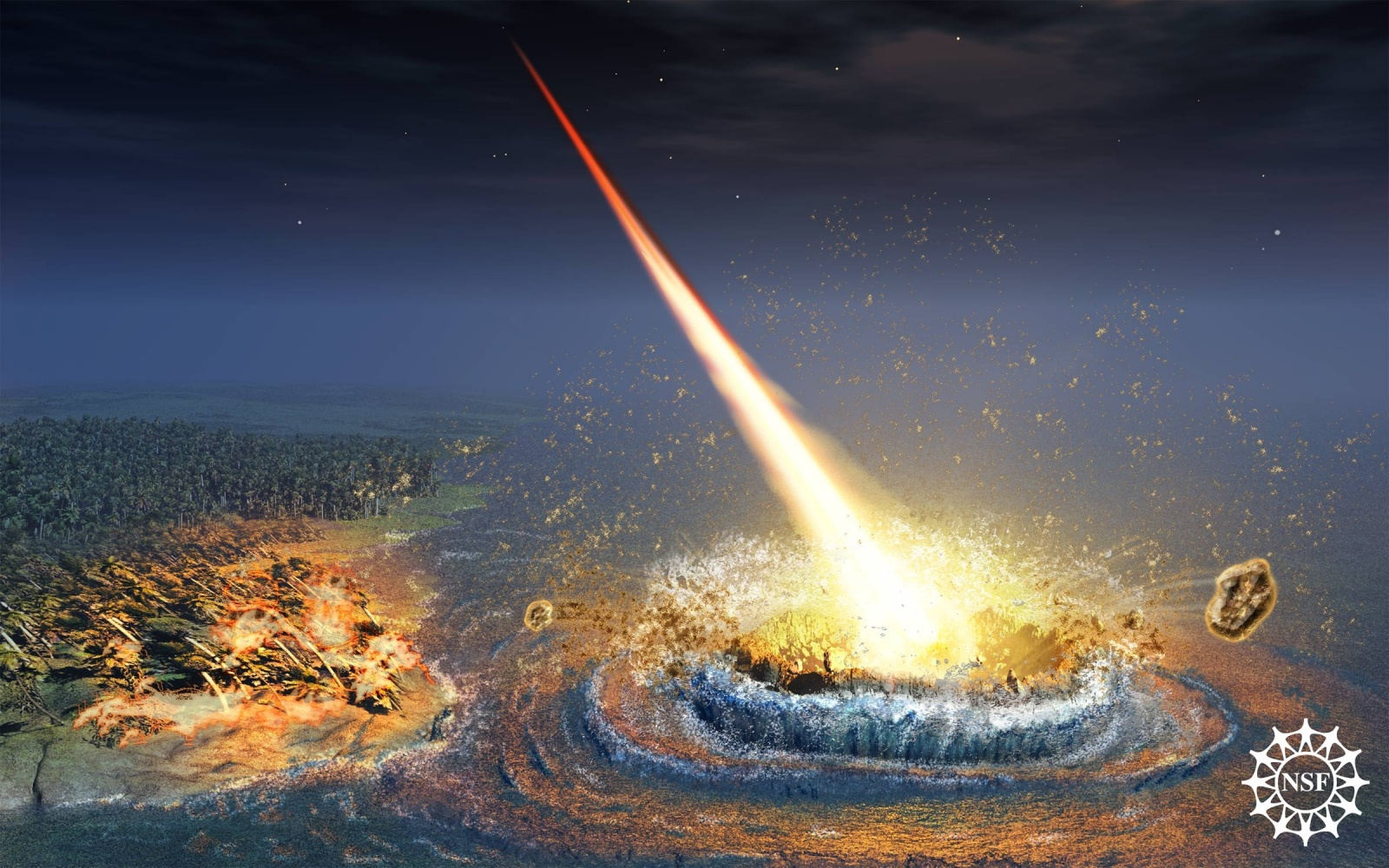 Причиной глобального потепления 55 млн лет назад может быть комета - 3