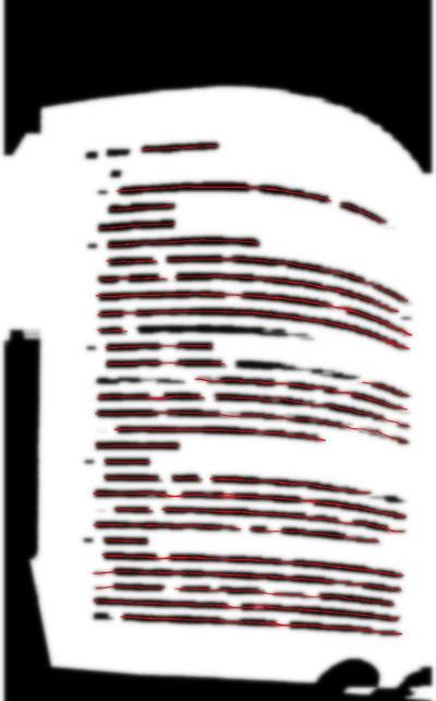Устранение перспективных искажений и разгибание кривых строк на фотографиях книжных разворотов - 19