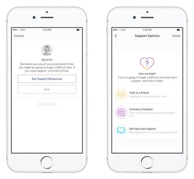 Instagram поможет склонным к суициду пользователям