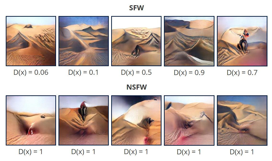 Генерация художественных картин в нейросети, обученной для распознавания порно - 13