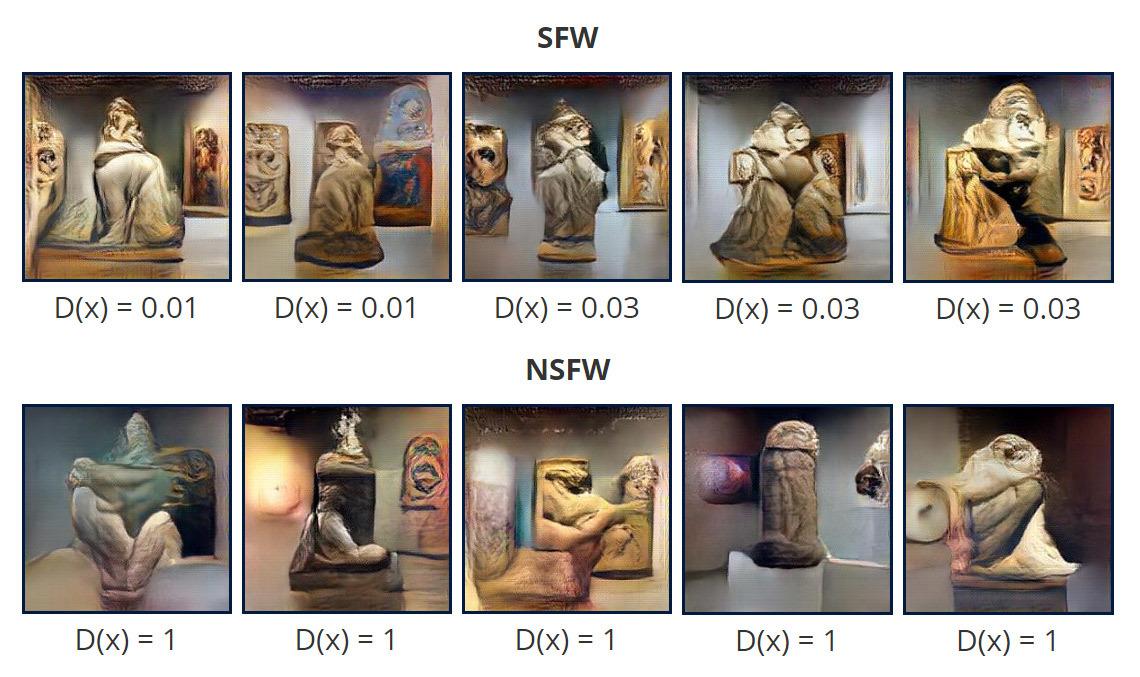Генерация художественных картин в нейросети, обученной для распознавания порно - 14