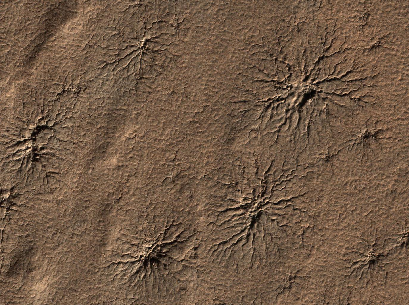 Любители астрономии помогли ученым изучить «пауков» на Южном полюсе Марса - 2