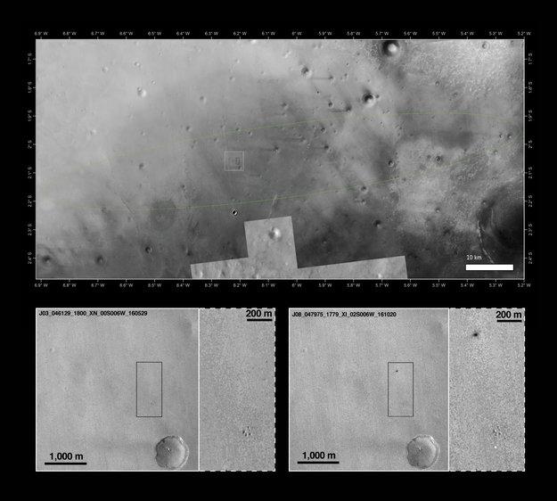 Mars Reconnaissance Orbiter помог найти место падения зонда «Скиапарелли» - 2