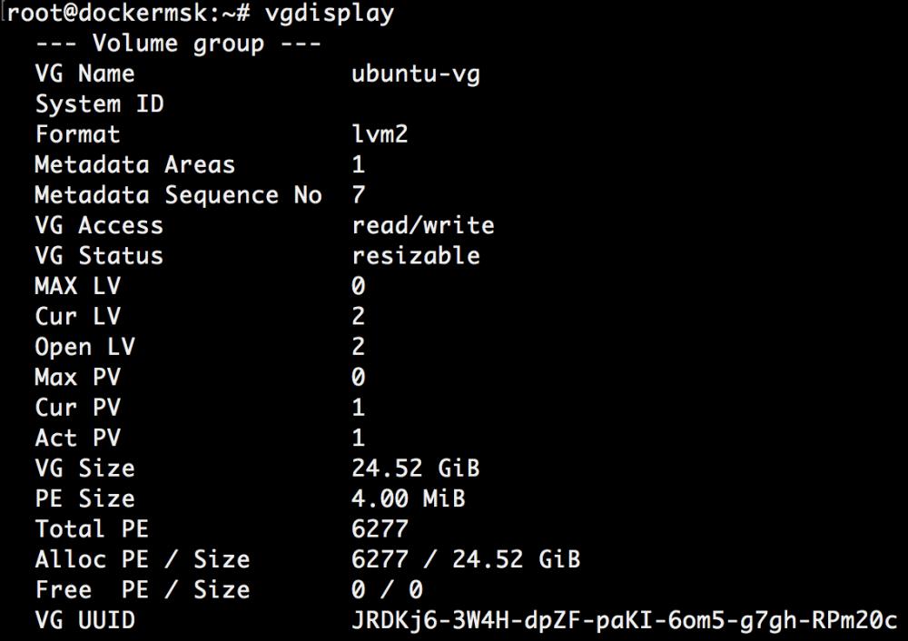 Добавляем места на диске для Linux–сервера в облаке Azure Pack Infrastructure, а заодно и разбираемся с LVM - 18