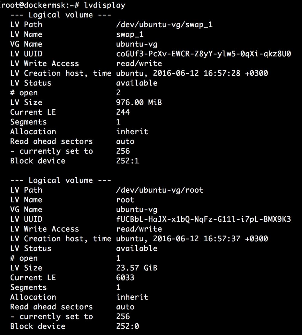 Добавляем места на диске для Linux–сервера в облаке Azure Pack Infrastructure, а заодно и разбираемся с LVM - 21