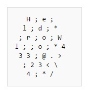 Примеры кода на 39 эзотерических языках программирования - 18