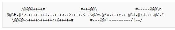 Примеры кода на 39 эзотерических языках программирования - 25