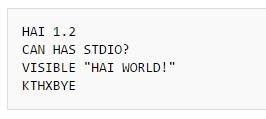 Примеры кода на 39 эзотерических языках программирования - 36