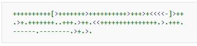 Примеры кода на 39 эзотерических языках программирования - 4