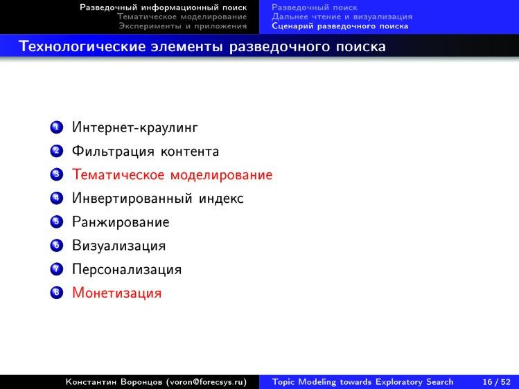 Тематическое моделирование на пути к разведочному информационному поиску. Лекция в Яндексе - 12